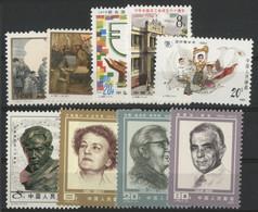 CHINA / CHINE 1985 Value 10.3 €. MNH ** N° 2705 + 2706 + 2711 + 2722 + 2723 + 2728 + 2729 + 2730 + 2741. VG/TB. - Ungebraucht