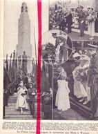 Orig. Knipsel Coupure Tijdschrift Magazine - Wasmes - Inauguration Du Monument Aux Morts - 1933 - Non Classés