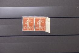FRANCE - Variété - N° 138 Type Semeuse 10ct En Paire Bord De Feuille - Variété De Piquage - Neufs * - L 75896 - Variétés: 1900-20 Neufs