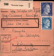 ! 1943 Graz Thalerhof Lager, Österreich Nach Zörnitz über Eisleben, Paketkarte,  Deutsches Reich, 3. Reich - Covers & Documents