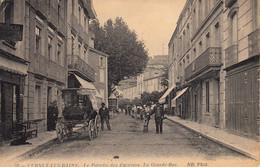 Thématiques 66 Pyrénées Orientales Vernet Les Bains La Grande Rue Animée Ecrite Timbre Cachet 08 01 1915 - Other Municipalities