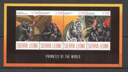 G829 2012 SIERRA LEONE PRIMATES OF THE WORLD MONKEYS WILD ANIMALS FAUNA 1KB MNH - Apen