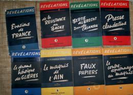 Révélations La Vie Secréte De La Résistance Lot 8 Livrets Nathan 1945 - French
