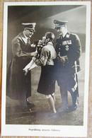 DR Hitler+Göhring? Begrüßung Unseres F..... Postkarte -rückseitig WHW Marke SST Wien - Interi Postali