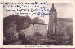 -- 46 -  SOUSCEYRAC -- L'EGLISE -- 1954 - Sousceyrac