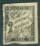 France   Taxe  2  Ob  TB  Obli  Saigon Central  Cochinchine - Portomarken