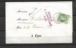 Bande Journal 53yt Retour A L'envoyeur Inconnu 1er Brigade Au Dos - 1849-1876: Periodo Classico