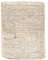 Poitiers. Deux Deniers. Sur Acte 1732 - Timbri Generalità