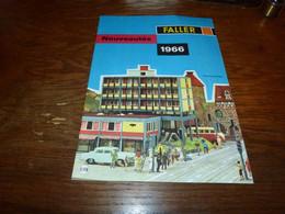 Catalogue Faller Nouveautés 1966 Van Vw Combi - En Francs Belges - Sin Clasificación