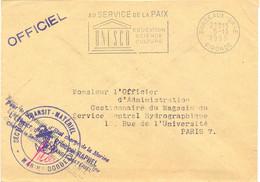 POSTE NAVALE : SECTION TRANSIT  - MATÉRIEL * MARINE BORDEAUX – L'OFFICIER.. PRINCIPAL RAPHEL – SECAP Du 5-11-1955 - Posta Marittima