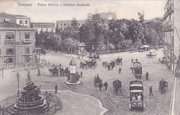 Palermo - Piazza Marina E Giardino Garibaldi Viaggiata 1922 - Palermo
