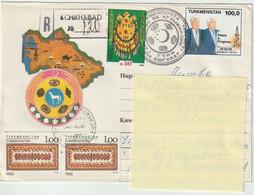 Turkmenistan.1994  Lettre Recommandée  Pour La Lituanie. - Turkmenistan