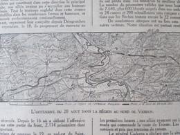 Semaine Militaire 16 Au 23 Aout   Nord De VERDUN Guerre14 18 + Carte Front  22 Aout + Cumieres   Bois Des Corbeaux - Non Classés