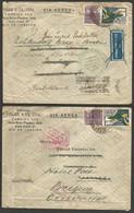 Bresil - 17 Cartes Et Lettres - Vers Europe-Amérique Dont Aeropostale / Condor Zeppelin / Censure Militaire - Posta Aerea