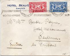 "FRANCE :OBL MECANIQUE ."" CANNES . POLO . GOLF . TENNIS ......"" . 1927 . - Maschinenstempel (Sonstige)"