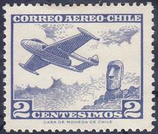 CHILI - Avion Et Moai Sur L'île De Pâques - Airplanes