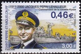 France S. P. M.  T. U. C. De 2001 YT 756 Neuf - Nuevos