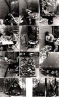 Lot De 11 Photos Originales A Manger ! Jolie Cueillette De Champignons Des Bois, Femme & Ses Cèpes En Maison Forestière - Anonyme Personen