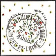 Oblitération Cachet à Date Sur Autoadhésif De France N°  149,** Ou 4130_A - Franok Et Sabine. Coeur Saint Valentin 50gr. - Sellos Autoadhesivos