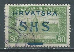 Yougoslavie Royaume Des Serbes, Croates Et Slovénes YT N°21 Surchargé Hrvatska SHS Oblitéré ° - Ongebruikt