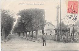 92 ANTONY - Boulevard Morel Et La Gare - Animée - Antony