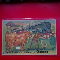 CARTE A SYSTEME CHAMONIX MER DE GLACE TRAIN - Chamonix-Mont-Blanc