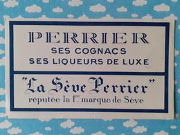 Buvard Perrier Cognac Liqueur De Luxe - Schnaps & Bier