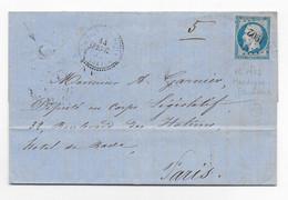 1858 - ILLE ET VILAINE - LETTRE De FOURNEAU DE ROCHE BOITE RURALE C Avec T22 De MARTIGNE-FERCHAUD + PC 1902 => PARIS - 1849-1876: Klassik