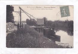 CPA :  14 X 9  -  Environs De Meulan.  -  Vaux-sur-Seine. - Au Port De L'usine à Plâtre Saint-Nicaise - Otros Municipios