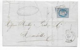 1868 - BUREAUX D'ALGERIE - LETTRE De PHILIPPEVILLE Avec GC 5055 => MARSEILLE - 1849-1876: Periodo Classico