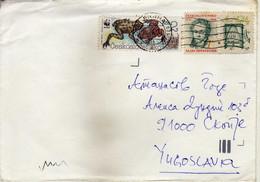 Czechoslovakia Letter Via Yugoslavia 14.08.1991 - Motive Stamp - Fauna/Amphibians/Frogs & Toads,WWF - Brieven En Documenten