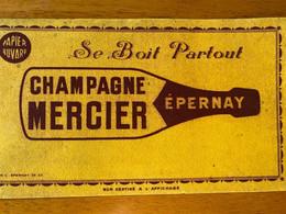 1 BUVARD CHAMPAGNE MERCIER - Schnaps & Bier