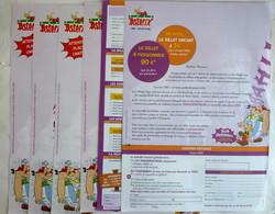 ASTERIX 6 LETTREs ILLUSTREEs + ENVELOPPE PARC SAISON 2003  - UDERZO - Werbeobjekte