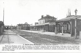 89 - YONNE - Nuits-sur-Armançon - La Gare DeNuits-sous-Ravières - WW1 CACHET MILITAIRE 9° CORPS D'ARMEE TRAIN SANITAIRE - Other Municipalities