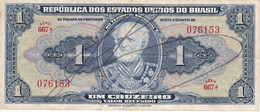 BILLETE DE BRASIL DE 1 CRUZEIRO DEL AÑO 1944 CON FIRMA  (BANK NOTE) - Brasile