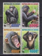 Guinea, 2005, Chimpanzee WWF, Quartblock - Chimpanzees