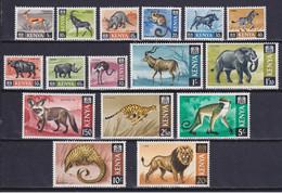 KENYA 1966, SG# 20-35, CV £26, Wild Animals, MNH/MH - Kenia (1963-...)