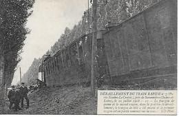 37 - SAVONNIERES - TOURS - 1908 DERAILLEMENT DU TRAIN RAPIDE PARIS NANTES LE CROISIC - Eisenbahnen
