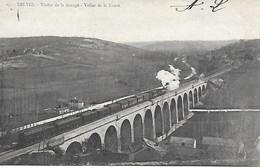 24 - DORDOGNE - BELVES - TRAIN SUR LE VIADUC - 1903 - DOS NON DIVISE - - Trains