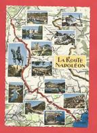 """C.P.S.M. ( 06 ) """" LA ROUTE DE NAPOLEON """"  Jolie Multi-vues : De La Méditéranée Aux Alpes     X 2pht. - Non Classificati"""