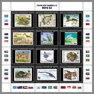 CENTRAL AFRICA 2020 MNH WWF Stamps On Stamps S-Countries S-Länder M/S II - OFFICIAL ISSUE - DHQ2045 - Unused Stamps