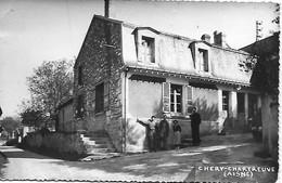 02 - AISNE - CHERY CHARTREUVE - BUVETTE ANIMEE PUBLICITE BYRRH - ANCIENNE 2 CV - Sonstige Gemeinden