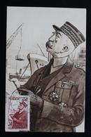 """1954 MAROC CP PREMIER JOUR"""" CENTENAIRE DE LA NAISSANCE  DU Mal LYAUTEY """" Y&T NO 337 BRUN CARMINE - Briefe U. Dokumente"""