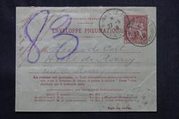 FRANCE - Enveloppe Pneumatique Type Chaplain De Paris En 1919 - L 75988 - Neumáticos