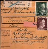 ! 1942 Turek Im Wartheland Nach Eisleben, Paketkarte, Deutsches Reich, 3. Reich - Covers & Documents