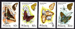ST LUCIA - 1991 BUTTERFLIES SET (4V) FINE MNH ** SG 1065-1068 - St.Lucia (1979-...)