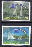 ST LUCIA - 1991 CRUISING YACHTS SET (2V) FINE MNH ** SG 1073-1074 - St.Lucia (1979-...)