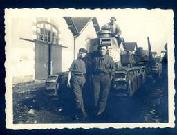 Photo Originale Chars De Combat En Mai 1935  à Vannes ....... NOV20-04 - Guerra, Militares