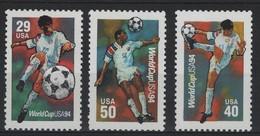 FOOT 18 - ETATS-UNIS N° 2239/41 Neufs** Championnat De Monde De Football - Ongebruikt