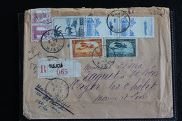 1945, LSC OUJDA CAD 9/2/1945 POUR ST LEGER LES CHOLET LR NO 065 OUJDA Bel Affranchissement Composé.. - Briefe U. Dokumente